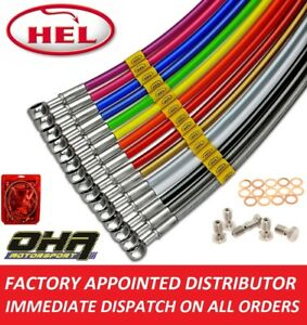 HEL Stainless Braided MX Front & Rear Brake Line Kit for Honda CR250 1987 1988