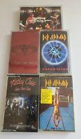 Def Leppard Van Halen Motley Crue Whitesnake Cassette Tape Lot Hard Rock 80's...