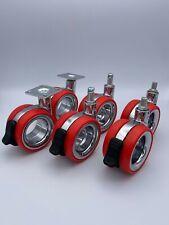 Doppelrolle Kunststoff 75 mm Design Lenkrolle Bremse Transportrolle Möbelrolle