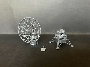 CEREAL TOY R&L 1970 SPACE AGE LOT OF 2 RADAR DISH & LEM - SILVER