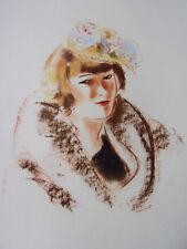 "DIGNIMONT / LITHOGRAPHIE signée "" Suzanne ""  38x28 1946"