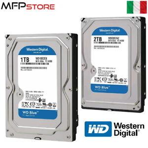 HDD 1TB e 2TB HARD DISK 3,5'' WESTERN DIGITAL BLUE SATA III WD10EZEX WD20EZAZ