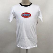 Obey Men's Ringer T-Shirt International White/Black Size M NWT Shepard Fairey