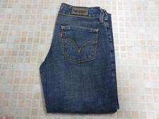 Levi 570 DENIM JEANS WOMEN STRAIGHT FIT BLUE W28 L36 Grade A WB091