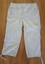 Womens Style & Co. Khaki Capri Pants with Cinch hem/Tie Detail Cargo Style Sz 6