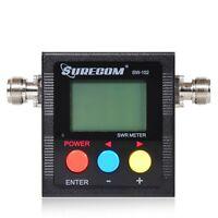 Surecom SW-102 125Mhz-525Mhz Digital VHF/UHF Antenna Power SWR Meter 2-Way Radio