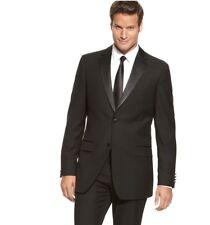 Izod Classic Fit Black Two Button Tuxedo Jacket Blazer Satin Lapel & Buttons
