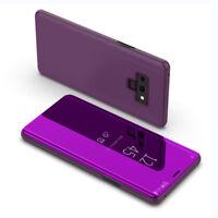 Para Samsung Galaxy Note9 Cuero Funda Espejo Claro Carcasa Flip Stand Case Cover