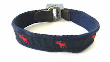 MENS ABERCROMBIE & FITCH N.Y MOOSE BLUE/RED BRACELET