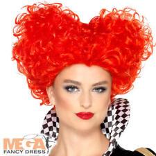 Heart Wig Ladies Fancy Dress Wonderland Fairytale Womens Adult Costume Accessory