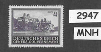 #2947   MNH stamp 4 Zloty 1943 / Third Reich Germany Occupied Lublin Poland WWII