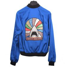 SAINT LAURENT PARIS 2690$ Authentic New Blue 'Sweet Dreams' Shark Teddy Jacket