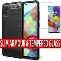 Samsung A51,A71,A10 Shockproof Silicone Ultra Thin Case Cover & Screen Protector