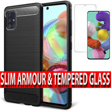 Samsung A51,A71,A42 Shockproof Silicone Ultra Thin Case Cover & Screen Protector