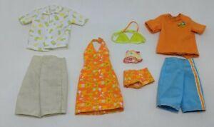 Barbie Happy Family Fashions Midge Alan Ryan & Nikki Clothes Clothing Beach VTG