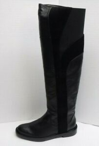 Calvin Klein Collection Size 5 Black Suede Leather Knee High Boots New Womens