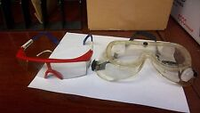 Safety Goggles and Safety Glasses (2 Piece Set)