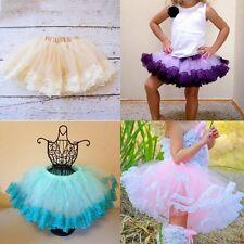 Kids Cute Tutu Skirt Girls Multilayer Tulle Tutu Mini Dress Dancewear Ballet