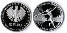 Deutschland 10 Euro Leichtatletik 2009 ADFGFJ komplett   Polierte Platte