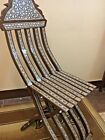 Antique Egyptian Curving  Beech Wood Chair Inlaid Mother of Pearl