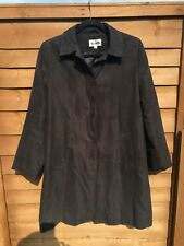 Rossetti Black 3/4 Length Lightweight Coat in a Size L. Concealed Button Panel