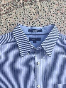 GANT - The Banker - Blue-White - Striped - Cotton - Long Sleeve - Shirt - XL