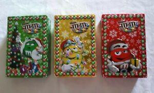 M&M COLLECTABLE CHRISTMAS TINS 2012