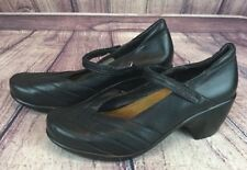 NAOT Eden Womens Size 39 / 8-8.5 Black Leather Mary Jane Shoes Heels  D19