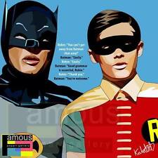 Batman & Robin canvas quotes wall decals photo painting framed pop art poster