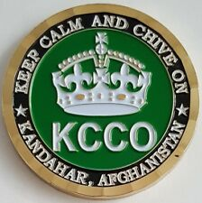 OEF ISAF ANP KCCO Keep Calm and Chive On Kandahar Afghanistan Challenge Coin