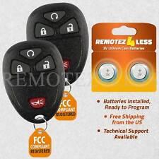 2 For Silverado 1500 2500 -2007 2008 2009 2010 2011 2012 2013 Remote Car Key Fob