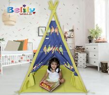 TEEPEE SET FOR KIDS,WASHABLE, PORTABLE, INDOOR/OUTDOOR USE -BIRDIE DESIGN
