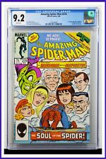 Amazing Spider-Man #274 CGC Graded 9.2 Marvel March 1986 White Pages Comic Book.