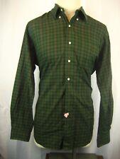 Mens Ralph Lauren Blue Label Classic 100% Cotton LS GreenPlaid Casual Shirt sz L