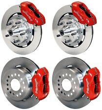 "WILWOOD DISC BRAKE KIT,65-72 CDP C-BODY,12"" ROTORS,RED CALIPERS,LINES,CABLE SET"