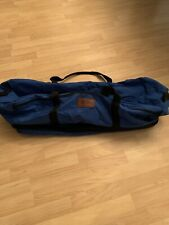LargeVTG large blue LL Bean duffel bag With Extra Bottom Pouch for travel