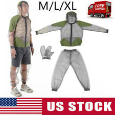 Outdoor Anti Mosquito Suit Mesh Bug Clothing Net Yarn Mitts Gloves Pants C4T1