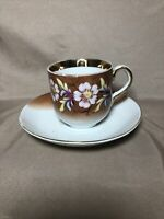 Vintage Hand Painted Tea Cup And Saucer Beautiful 6""