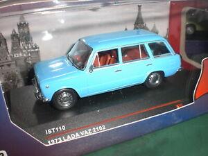 IXO / IST Models 110 - Lada Vaz 2102 blue 1973 - 1:43 Made in China