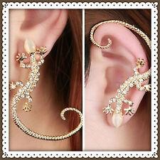 Rhinestone Ear cuff Earring,Gecko,Lizard,Goth,Punk,Gift Idea,Valentines,Stud