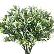 6pcs Artificial Plastic Flowers Plants Fake Shrubs Faux Morning Glory Bushes