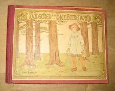 antikes Kinder Buch Hänschen im Blaubeerenwald 1910 Loewe Beskow