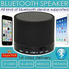 WIRELESS Bluetooth Portatile Mini Altoparlante MIC PER IPAD IPHONE TABLET MP3 UK STOCK