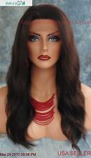 Brazilian Remy Human Hair Lace Front Wig Natural Black Bleach or Tint 1159 B