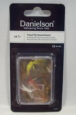 Danielson Package of 12 Size 10 Trout Flies Fly Fishing Assortment