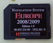 carte SD pour autoradio RNEG GPS, Europe   2008 / 2009