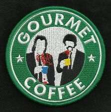 GOURMET COFFEE PULP FICTION VINCENT & JULES MORALE Hook BADGE MILITARY PATCH
