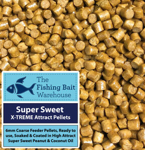 Super Sweet X-TREME Attract Feeder Pellets 1kg - 6mm Glugged Pellets - Carp Stim