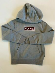 Vans New Easy Box Fill Hooded Pullover Sweatshirt Cement Heather Youth Boy's 5/M