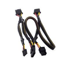 6Pin Male 1 Port to 3 Molex Female Port to 4pin Power Cable PCI-E Graphics Card